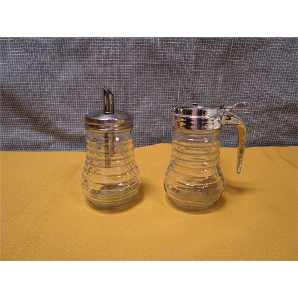 Glass Syrup & Sugar Dispenser Set