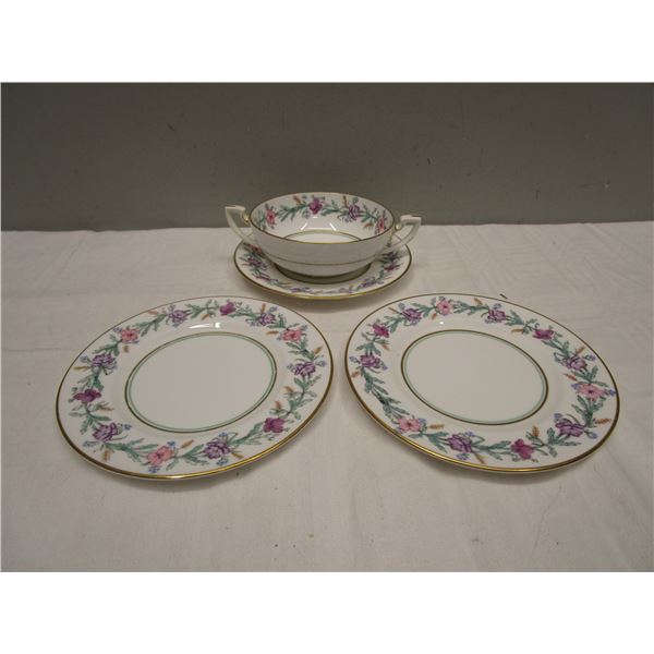 Elysian Bowl with Handles Saucer & Plates