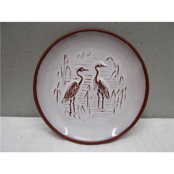Herons Small Plate Studio Pottery