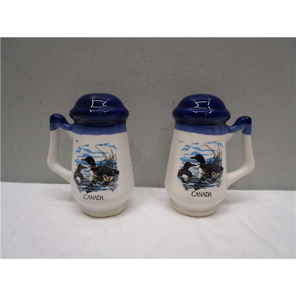 Canada Salt & Pepper Shakers Loons Theme
