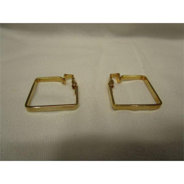 Clip Square Hoop Earrings