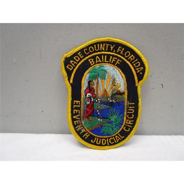 Patch Baliff 11th Judicial Circuit Dade County FL