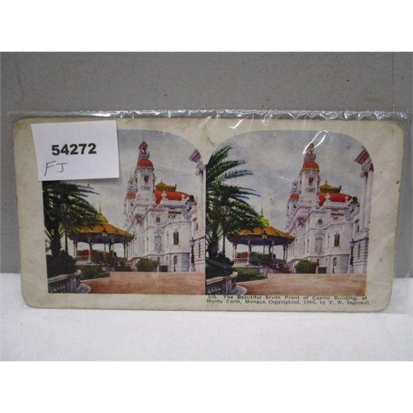 Stereo View Card Monte Carlo Monaco