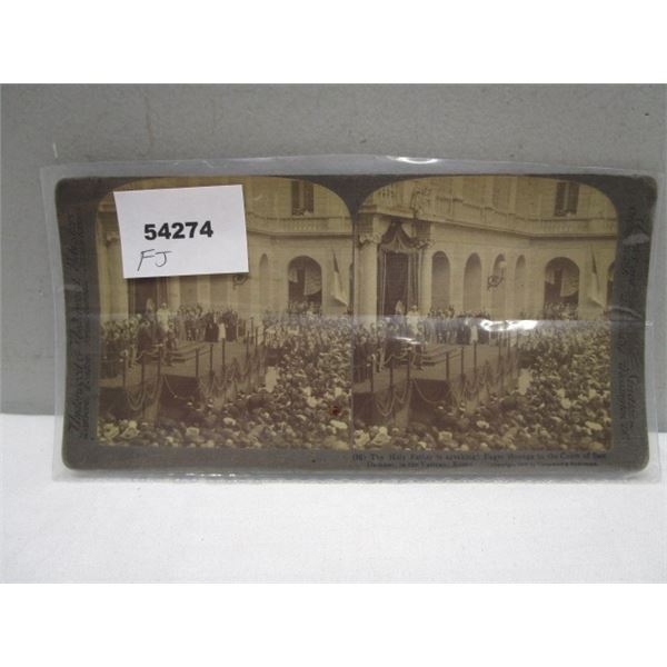 Stereo View Card Vatican Rome
