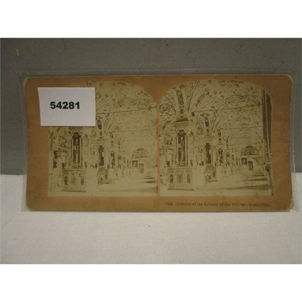 Stereo View Card Library, Vatican Rome