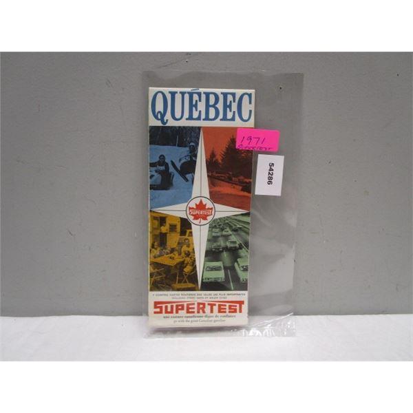 1971 Supertest Quebec Map