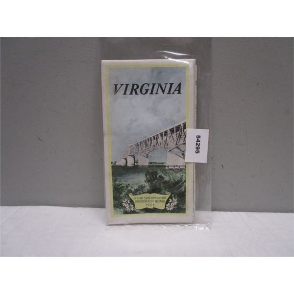 1954 Virginia Official State Highway Map