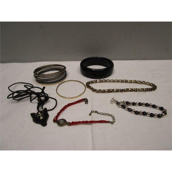 Bangle Bracelets & Jewelry Lot