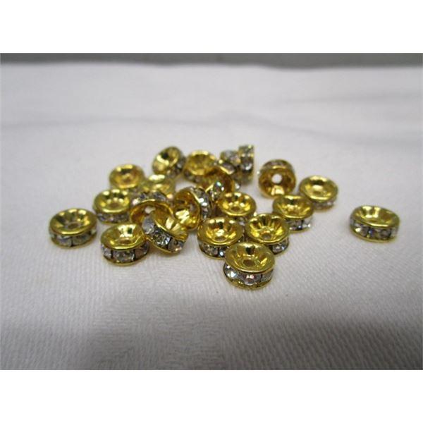 Crystal Spacer Bead Findings Lot