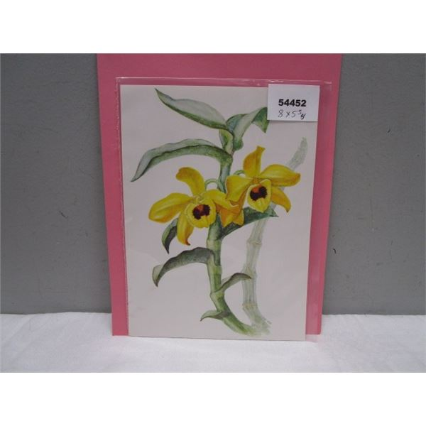 Orchid Print from Germany Look Awesome Framed