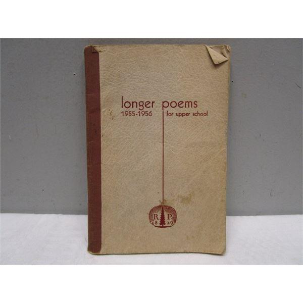 BOOK Longer Poems 1955-56 For Upper School