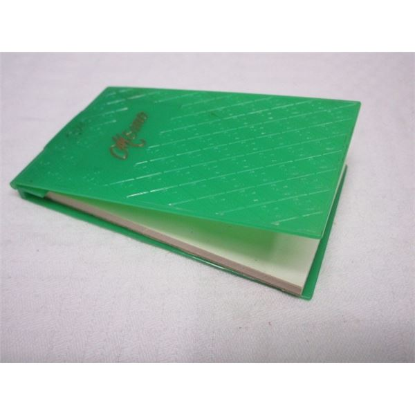 Mid Century Memo Book with Plastic Cover