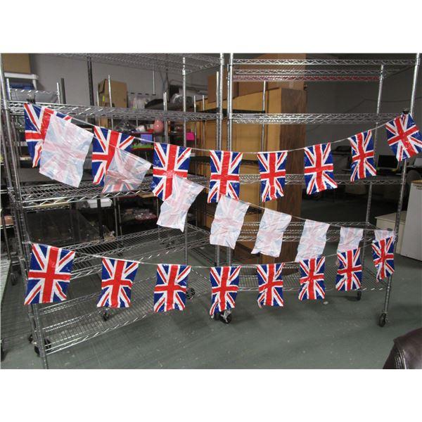 British Flag Plastic Bunting Approximately 24 Feet