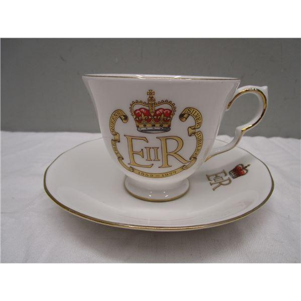 1977 Queen's Jubilee Tea Cup & Saucer