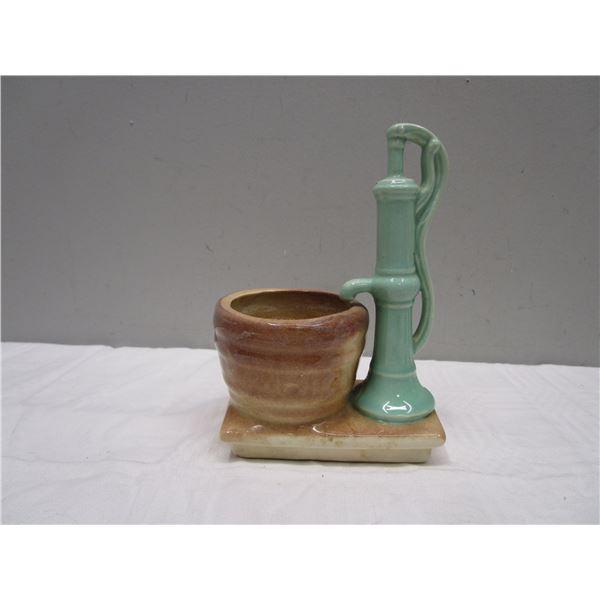 Vintage Planter Water Pump & Bucket