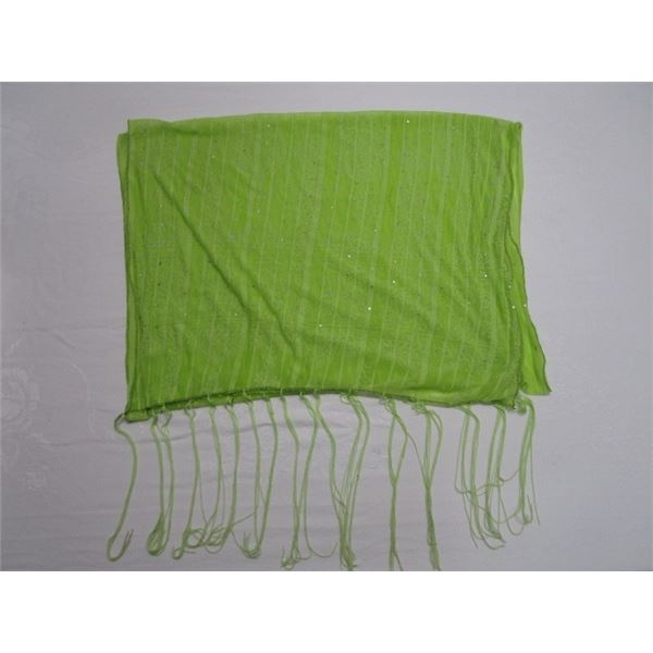 Green Scarf with Accents