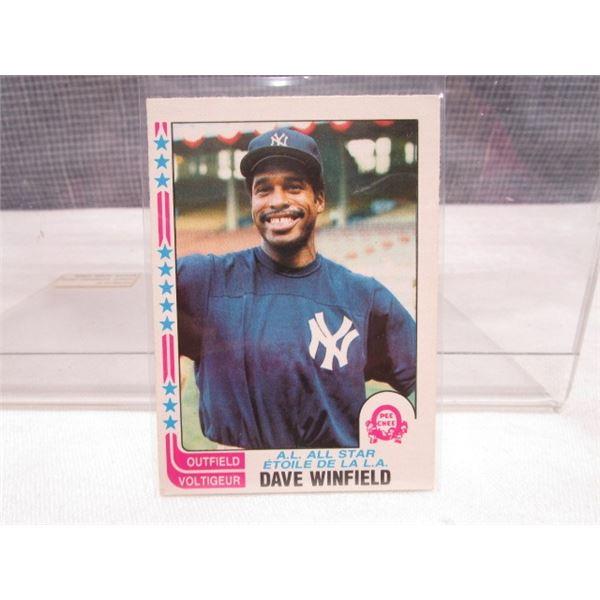 1982 OPC Baseball Card Dave Winfield