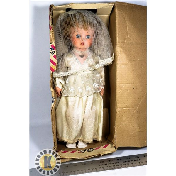 VINTAGE DOLL IN A BOX. CANADIAN MADE