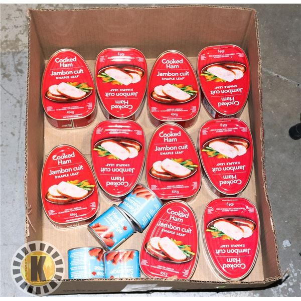 FLAT OF ASSORTED CANNED MEATS