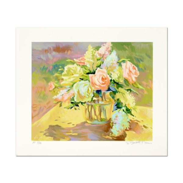"""S. Burkett Kaiser, """"Summer Roses"""" Limited Edition, Numbered and Hand Signed with Letter of Authentic"""