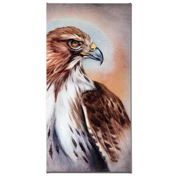American Redtail Hawk  Limited Edition Giclee Gallery Wrapped Canvas on Canvas by Martin Katon, Num