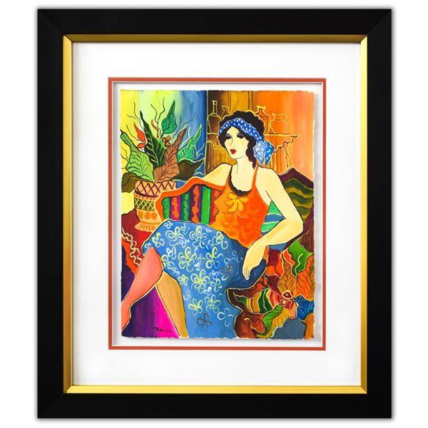 "Patricia Govezensky- Original Watercolor ""Anita"""