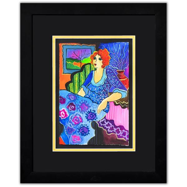 """Patricia Govezensky- Original Watercolor """"Romy"""""""
