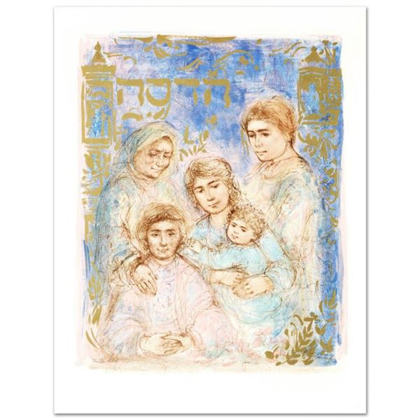 """""""Hadassah, The Generation"""" Limited Edition Lithograph by Edna Hibel (1917-2014), Numbered and Hand S"""