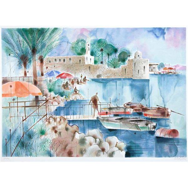 """Shmuel Katz- Original Serigraph """"Ancient Fort"""""""