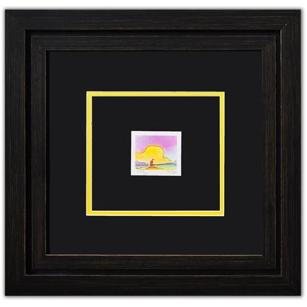 "Peter Max- Original Lithograph ""Sailboat On The Horizor (Mini Series)"""
