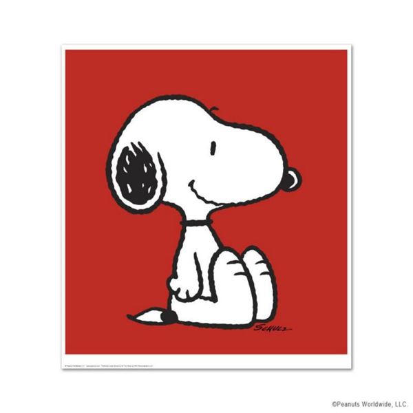 """Peanuts, """"Snoopy: Red"""" Hand Numbered Limited Edition Fine Art Print with Certificate of Authenticity"""