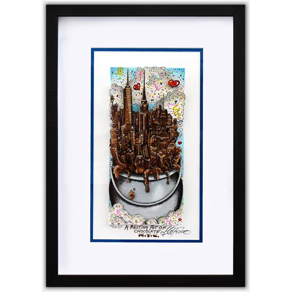 "Charles Fazzino- 3D Construction Silkscreen Serigraph ""A MELTING POT OF CHOCOLATE…NYC"""