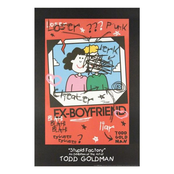 """""""Ex-Boyfriend"""" Collectible Lithograph Hand Signed by Renowned Pop Artist Todd Goldman."""
