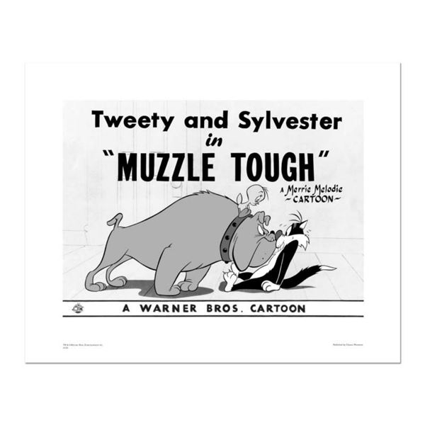 """""""Muzzle Tough"""" Numbered Limited Edition Giclee from Warner Bros. with Certificate of Authenticity."""