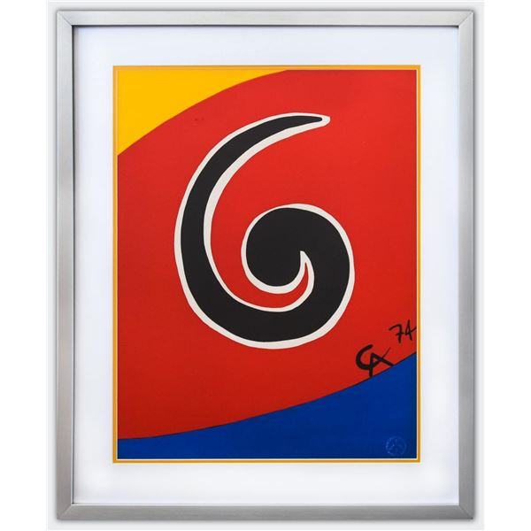 """Alexander Calder- Lithograph on Arches Paper """"Flying colors - Skywirl"""""""