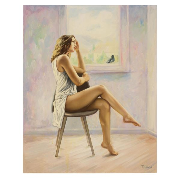 "Taras Sidan- Original Giclee on Canvas ""Raffaella"""
