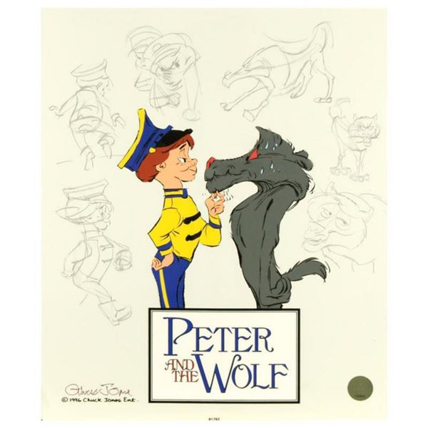 """""""Peter and the Wolf: Character Sketches"""" by Chuck Jones (1912-2002). Limited Edition Animation Cel w"""