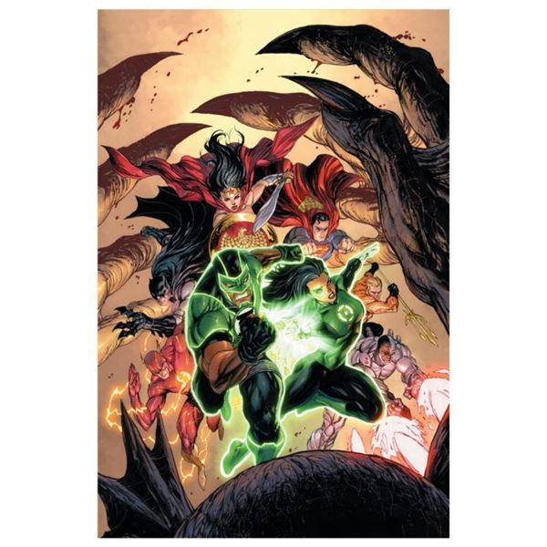 """DC Comics, """"Green Lanterns #15"""" Numbered Limited Edition Giclee on Canvas by Tyler Kirkham with COA."""
