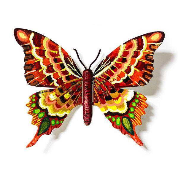 "Patricia Govezensky- Original Painting on Cutout Steel ""Butterfly CXLVI"""