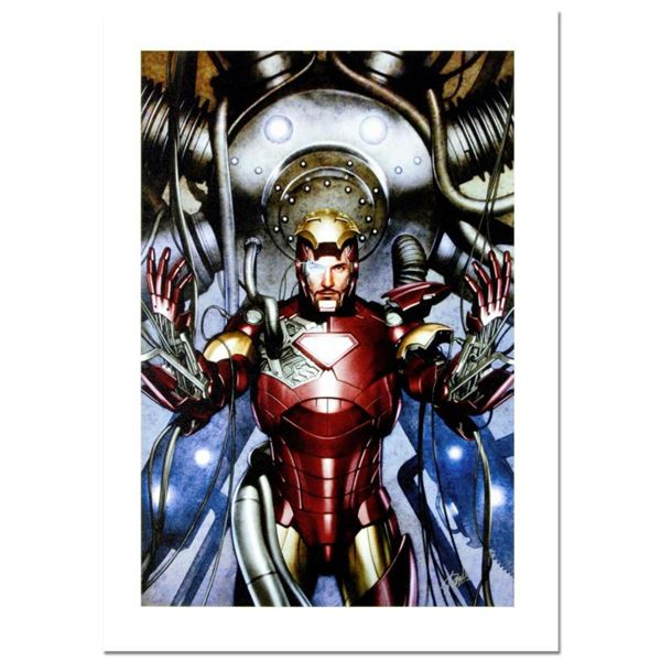 """Stan Lee Signed, """"Iron Man: Director of S.H.I.E.L.D. #31"""" Numbered Marvel Comics Limited Edition Can"""