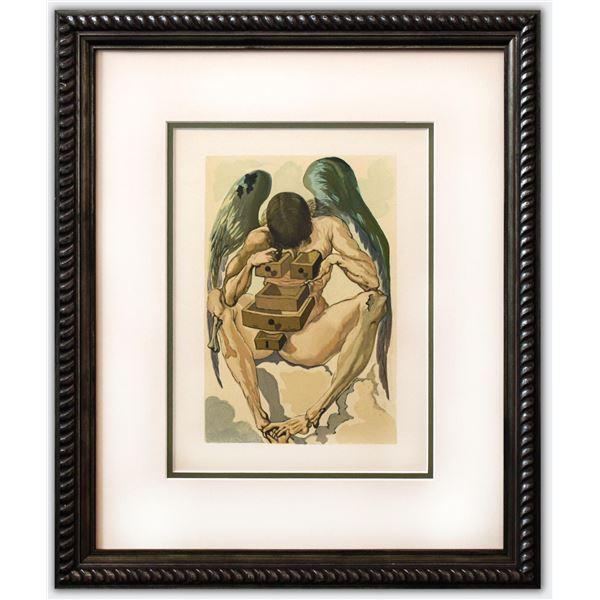 "Salvador Dali- Original Color Woodcut on B.F.K. Rives Paper ""Purgatory 1"""