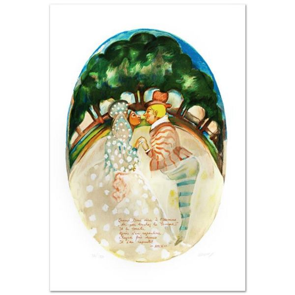 """""""Adam And Eve"""" Limited Edition Lithograph by Gretty Rubinstein, Numbered and Hand Signed with Certif"""
