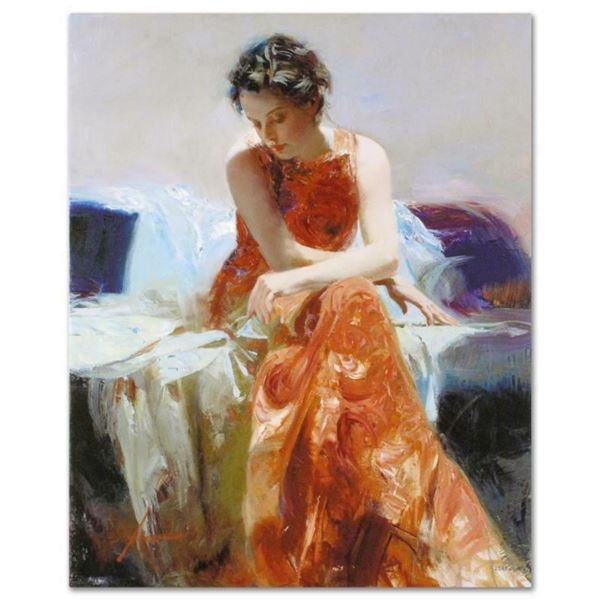 """Pino (1939-2010), """"Solace"""" Artist Embellished Limited Edition on Canvas, PP Numbered and Hand Signed"""