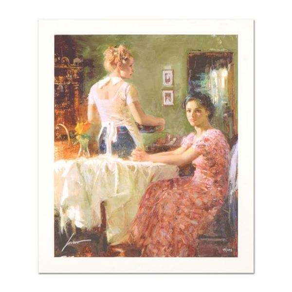 """Pino (1939-2010) """"Sharing Moments"""" Limited Edition Giclee. Numbered and Hand Signed; Certificate of"""