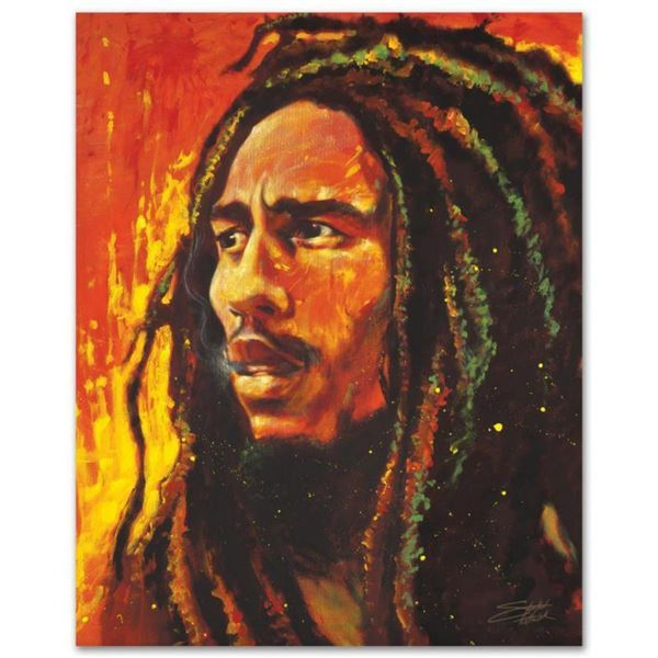 """""""Bob Marley"""" Limited Edition Giclee on Canvas by Stephen Fishwick, Numbered and Signed. This piece c"""