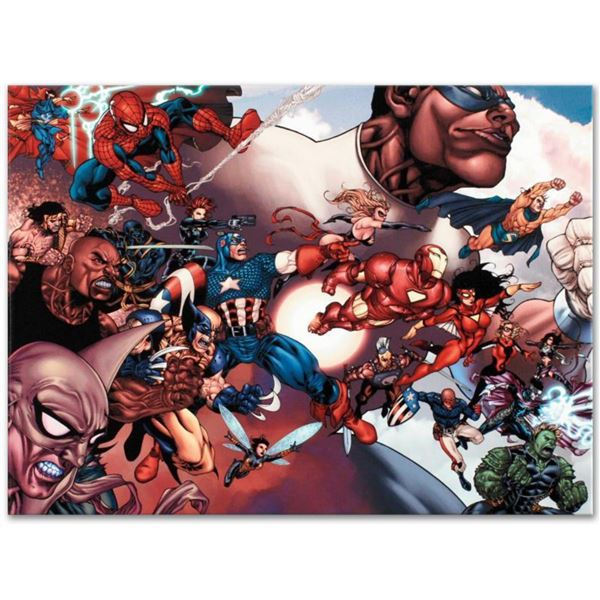 """Marvel Comics """"What If? Civil War #1"""" Numbered Limited Edition Giclee on Canvas by Harvey Tolibao wi"""