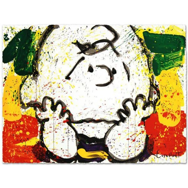"""""""Call Waiting"""" Limited Edition Hand Pulled Original Lithograph by Renowned Charles Schulz Protege, T"""