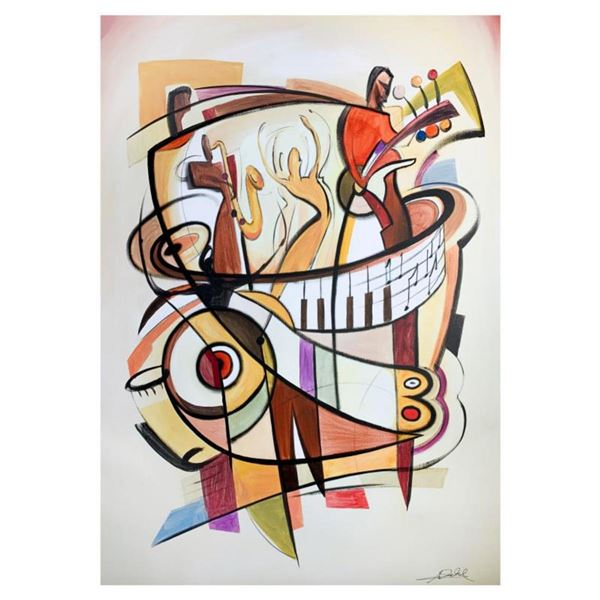 """Alfred Gockel, """"Jam Session"""" Hand Signed Limited Edition on Canvas with Letter of Authenticity."""