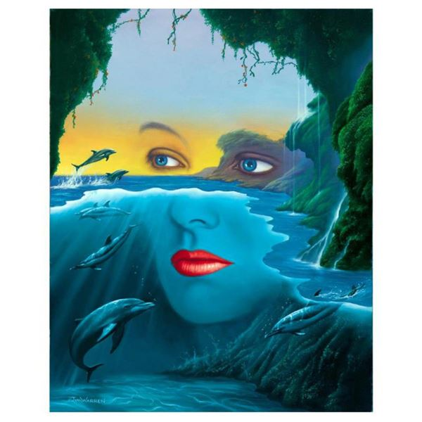 """Jim Warren, """"Friends of Mother Nature"""" Hand Signed, Artist Embellished AP Limited Edition Giclee on"""