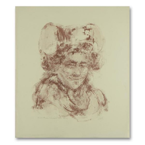 """Edna Hibel (1917-2014), """"Breton Woman"""" Limited Edition Lithograph, Numbered and Hand Signed with Let"""